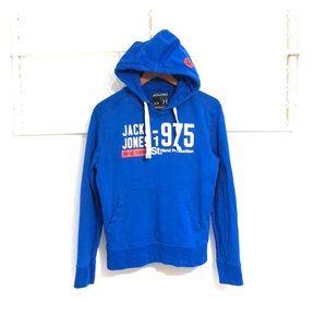 JACK & JONES Long Sleeve Sweatshirt Hoodie Blue
